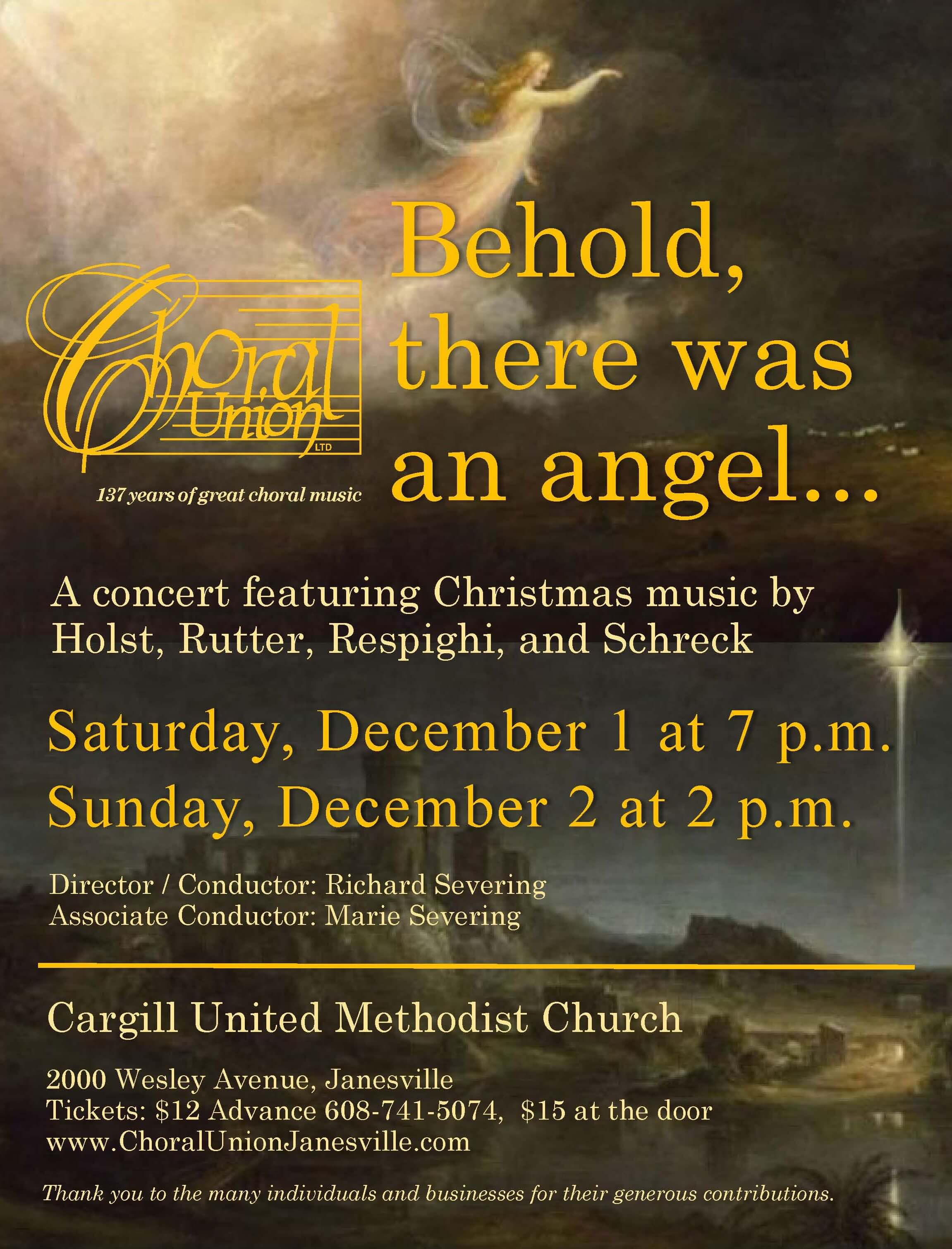 Up Next: Behold, There Was An Angel    - Choral Union LT